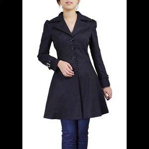 Jackets & Blazers - Plus Size Black Corset Gothic Trench Coat 2X